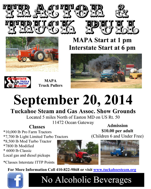 Interstate Truck and Tractor Pull at Tuckahoe Steam September 20, 2014