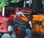 A couple of tractor enthusiasts at our Steam Show.